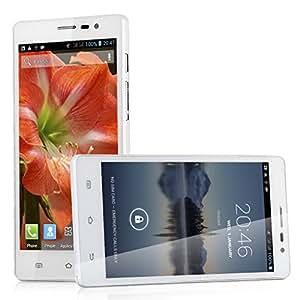 Blanc - CUBOT GT88 Téléphone Portable Tactile Débloqué - 5.5 Pouces Smartphone 3G Android 4.2 QHD IPS Écran MTK6572 Double Core Double SIM 4G ROM 8.0MP Caméra GPS WIFI
