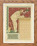 L Lumartos MAF091 Poster Paul Hankap Architekt Adolphe Crespin Moderner Heimdekoration, Wandbild, Holz, A4