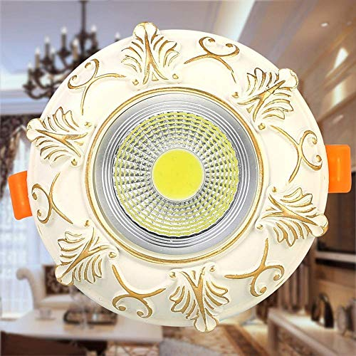 Magosca Klassische Nordic Retro LED Deckeneinbauleuchte Down Light Antik Carving Harz Runde Wohnung Unterputz Strahler High CRI Commercial Mall Living Light Decor Leuchte -