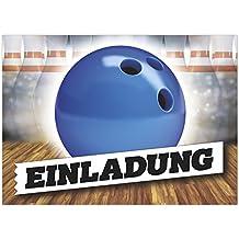 16 Einladungskarten Zum Kindergeburtstag   Motiv Bowling Einladung   Für  Kinder, Jungen, Party,