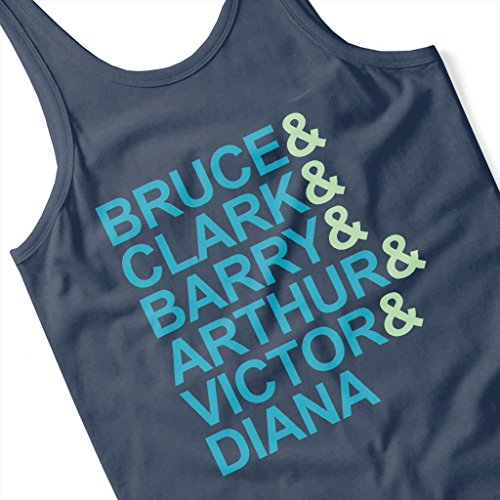Justice League Character First Names Women's Vest Navy blue