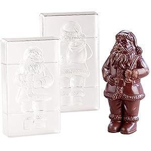Rosenstein & Söhne Schokoladen Form: 3D Schokoladen-Gussformen-Set