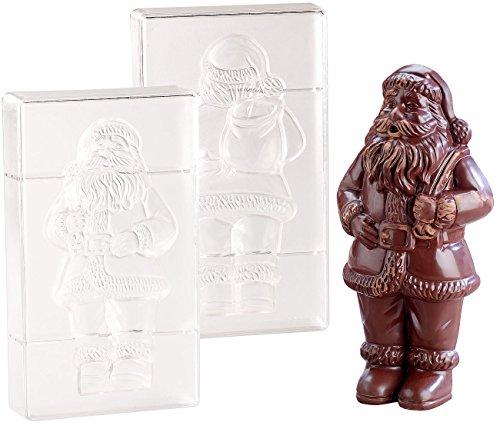 """Rosenstein & Söhne Schokoladenform: 3D Schokoladen-Gussformen-Set""""XL Weihnachtsmann"""" (Weihnachten Schoko Formen)"""