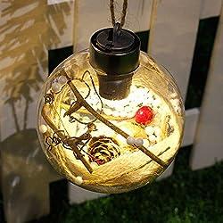 danspeed 8cm transparente adorno Luces LED con forma de bola de Navidad de plástico bola de Navidad regalos de Navidad regalo de Navidad la decoración del partido suministros, Style 3
