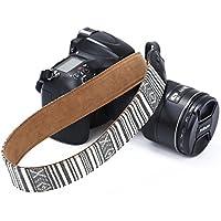 Beaspire Correa de Hombro Cuello Ajustable de Algodón Suave para Cámara Réflex DSLR Canon Nikon Pentax Sony (Correa-10 Gris)