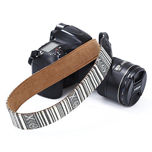 Beaspire Kameragurt Vintage Kamera Riemen Gurt Schultergurt Retro Aztec Tribal Streifen Tragegurt Leder Schulter Bohemian Neck Strap für alle SLR DSLR Kamera