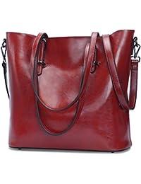 a45275520a05 S-ZONE Women Leather Top Handle Handbag Cross Body Shoulder Bag Messenger  Tote Bag Purse
