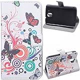 Voguecase® für HTC Desire 526G, Kunstleder Tasche PU