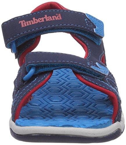 Timberland Active Casual Sandal Ftk_adventure Seeker 2 Strap Sandal,mixte enfant Bleu (Blue)