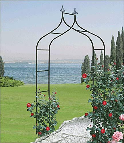 Rosenbogen 'Cado' aus Stahl schwarz lackiert BxHxT 140x255x38 cm