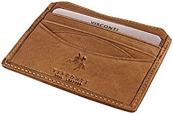 Visconti Mens Gents Veg Tan Leather Wallet for Credit Cards, Notes - Oak Drw25