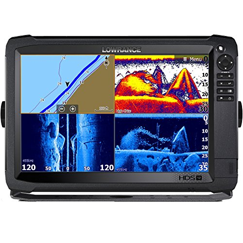 Lowrance HDS-12 Carbon 3D Bundle with 3D Transom Mount Transducer and C-Map Insight - C-map