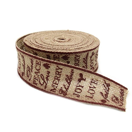 rosenice Merry Christmas Love Jute Craft Ribbon DIY Handwerk Hochzeit Weihnachten Decor 10 m 5 cm
