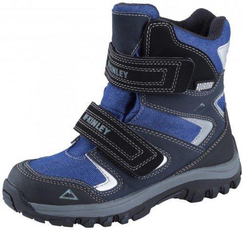 McKinley Kinder Winterstiefel Bozen II AQX Junior (Größe / Farbe: 34 - blau/silber)