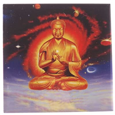 Ceramic Tile with Stand - Floating Buddha -