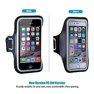 iPhone SE/5S/5C/5 Sportarmband,Mpow Sweatproof Running Armband für iPhone 5/5S/5C/SE, iPod Touch 5 mit Schlüsselhalter,Verlängerungsband und reflekltierendes Band,für Sport/ Laufen/ Joggen.