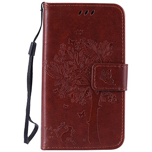 lg-k4-case-leather-brown-cozy-hut-wallet-case-premium-soft-pu-leather-notebook-wallet-embossed-flowe