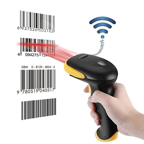 ICOCO 2.4GHz Laser Barcode Scanner Wireless | präzises und schnelles Lesen | 2 Scan-Modi Bluetooth 4.0 order USB 2.0 Wired Handheld Bar Code Reader