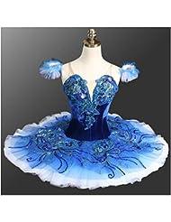5650562b76 YUEZHILAN Avanzada Personalizada Falda de Ballet Falda Tutu Profesional de  7 Capas Duro Net Adultos Niños