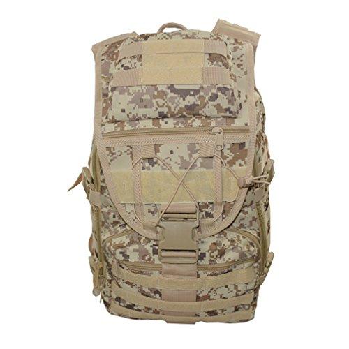 Tactical Camo Armee Rucksack Assault MOLLE Outdoor Militär Swordfish Rucksack, 40L Wasserdicht Nylon Herren und Damen Tasche für Camping Wandern Trekking, Desert Digital color (Vintage Digital Camo Acu)