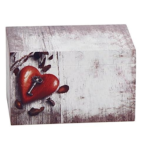 Hosley souvenir en bois/décoratif/boîte de rangement, de 15,2cm de long, pour conserver tous vos souvenirs en un seul endroit. pour les mariages, maison réchauffement, bureau à domicile.