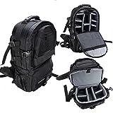 Yosoo multifuncional gran capacidad Professional Camera Backpack cámara Rucksack cámara impermeable antigolpes bolsa de hombro fotografía bolsa de viaje para Sony Canon Nikon DSLR SLR Negro