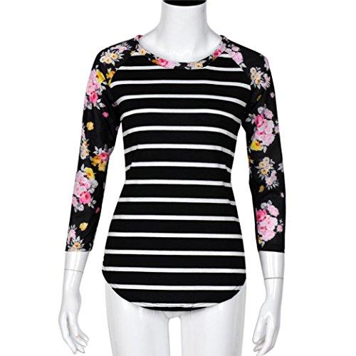 Femmes Tops,OverDose La Mode De Chemise à Manches Longues Blouse Casual T-Shirt Noir