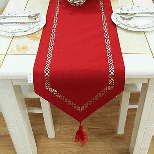 PRIDE S Red Fashion Hollow Imitation Seide Tuch Tee Tisch Kamin Tischläufer Tischdecke Tischset ( größe : 33*200cm )