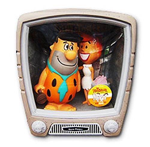 Wacky Wobbler Fred + Wilma Familie Feuerstein Flintstones TV Set mit 2 Figuren PVC APPR 15cm von Funko Fred Wilma Flintstones