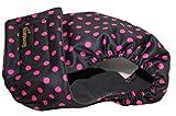 Hundeschutzhöschen für läufige Hündinnen – alle Größen – optional waschbare Pads – Schwarz Pink mit Punkten ( Medium Long )