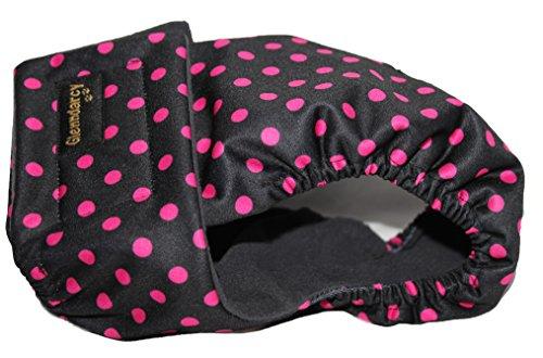 Schutzhose für läufige Hündinnen, schwarz mit rosa, Größe M (38,5 - 44,5 cm)