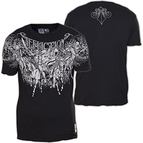 Affliction T-Shirt Horsemen Schwarz Schwarz