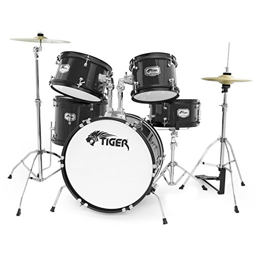 tiger-5-piece-junior-drum-kit-black