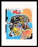Jean-Michel Basquiat Poster Kunstdruck Bild Untitled Skull 1981 im Alu Rahmen schwarz 42x34cm - Germanposters