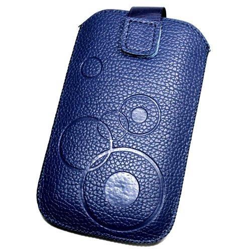 Schutzhülle Tasche Lederoptik blau XSL für Samsung I9105Galaxy S II Plus
