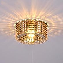 $iluminación Moderna luz de techo de cristal, luces de pasillo luces de entrada de pasillo Led Home Hall balcón escaleras luces las luces interiores ( Color : Ámbar )