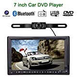 KKmoon Universal 7Zoll HD Touch Screen 2 Din Car DVD/USB/SD-Player Bluetooth GPS Stereoradio Auto Entertainment-System für alle Autos + HD Rear View Kamera¡