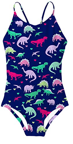 RAISEVERN Hawaiian Bademode Badeanzüge für Kinder Mädchen 5-6Years Cartoon Dinosaurier Urlaub Badeanzüge (Dinosaurier, Mädchen Für)
