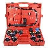 FreeTec 18 pezzi Adattatore serbatoio acqua strumento rilevatore di perdite auto sistema di raffreddamento a pressione