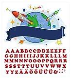 Wandtattoo Kinderzimmer Türaufkleber Weltall mit Name für Jungen