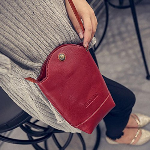 LILICAT Damen Crossbody Shoulder Bags Kleine Frauen Messenger Bags Mode Handtasche Chic Handytaschen Rot