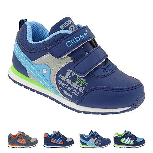 GALLUX - Mädchen Jungen Sneaker Sportschuhe bunte Freizeitschuhe Blau
