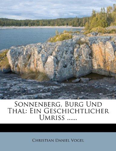 Sonnenberg, Burg Und Thal: Ein Geschichtlicher Umriss ......