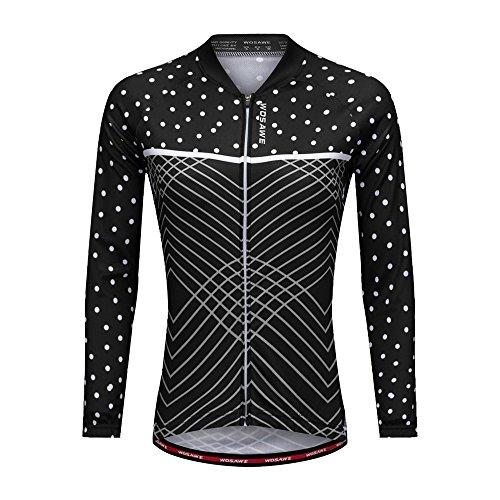 WOSAWE Cyclisme pour Femme Shirt Manches Longues...