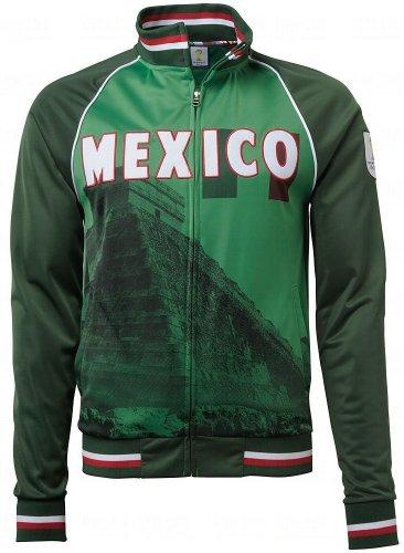 Rio De Janeiro Track Top (Mexico FIFA 2014 World Cup Soccer Sublimated Track Jacket)