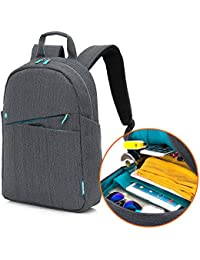 Kingslong Laptop Backpack Casual Day Pack 15.6 Inch Ultra Light Business Travel Bag For Women & Men Durable Linen...