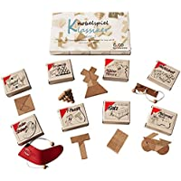 Knobelspiel Klassiker Set 2 - 8 Geschicklichkeitsspiele in Geschenkverpackung - incl. Lösung