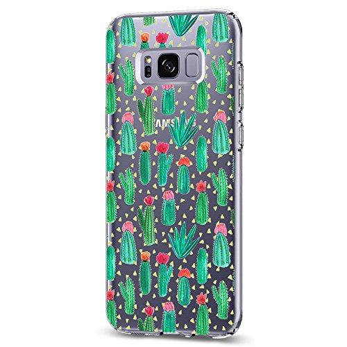 Samsung Galaxy S8/S8 Plus TPU Soft Panda Floral Schutzhülle, S8, Cactus -