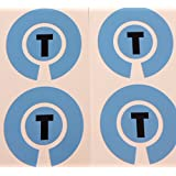 Crown Green Lawn Indoor Bowls Adhesive Lettered Coloured Marker Labels Set of 4