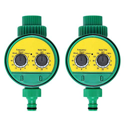 Automatische Wasser-timer (OrangeClub 2 Stück Automatische Bewässerungsuhr Wasser Timer Automatische zeitsparende Bewässerung für Garten Gewächshaus Landwirtschaft Gemüsegarten)